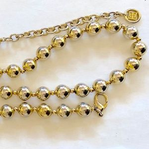 GIVENCHY Vintage Necklace Haute Couture Gold Bead